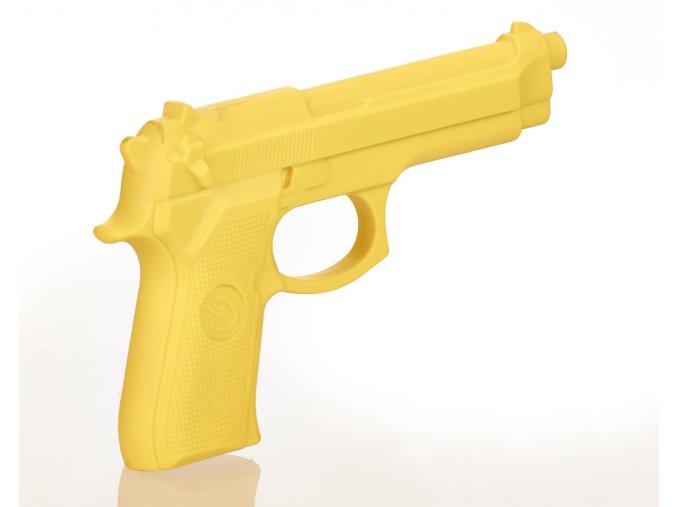Gumová žlutá tréninková pistole