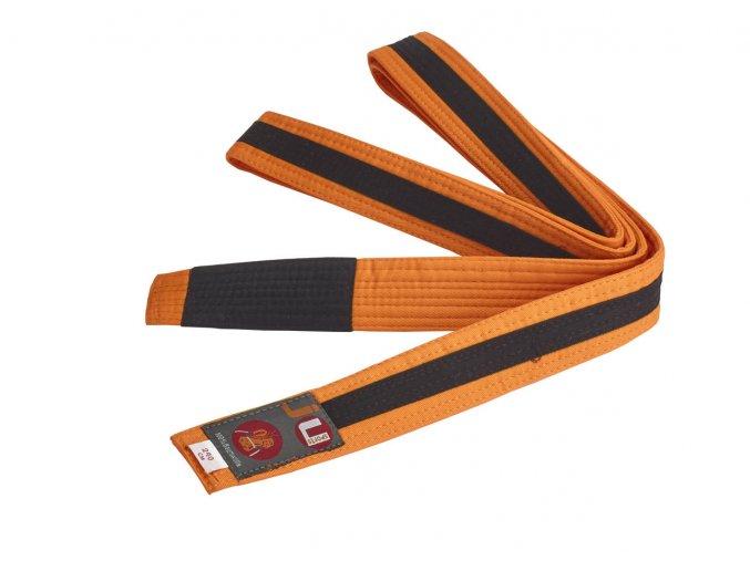 BRAZILIAN JIU JITSU dětský pás oranžovo-černá