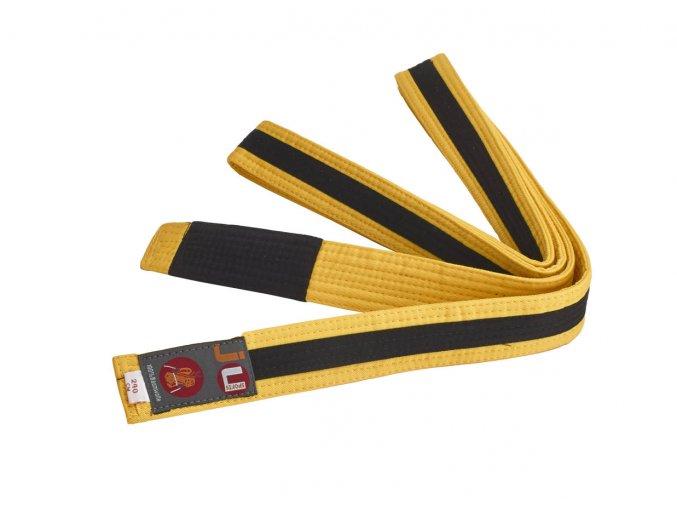 BRAZILIAN JIU JITSU dětský pás žluto-černá