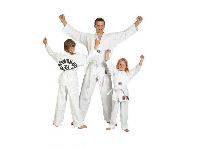 Dobok taekwondo, dětský START,  WTF střih včetně bílého pásku