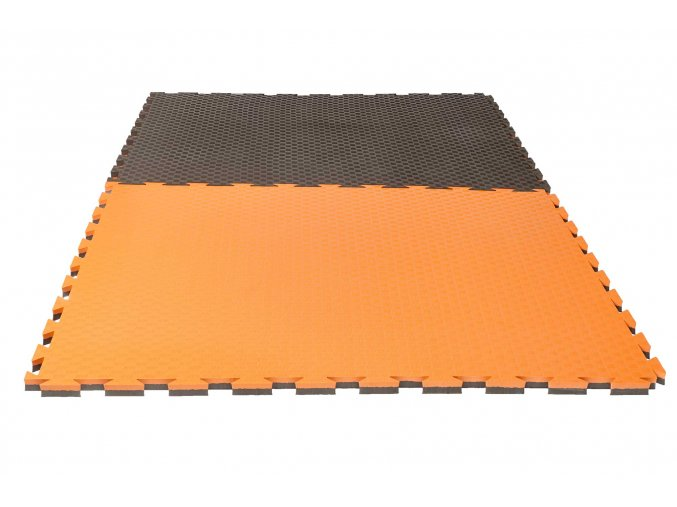 Tatami puzzle checker oranžová šedá2
