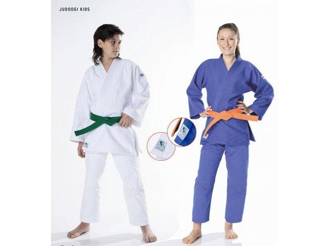 Kimono judo 450g DAX model KIDS bílé včetně pásku