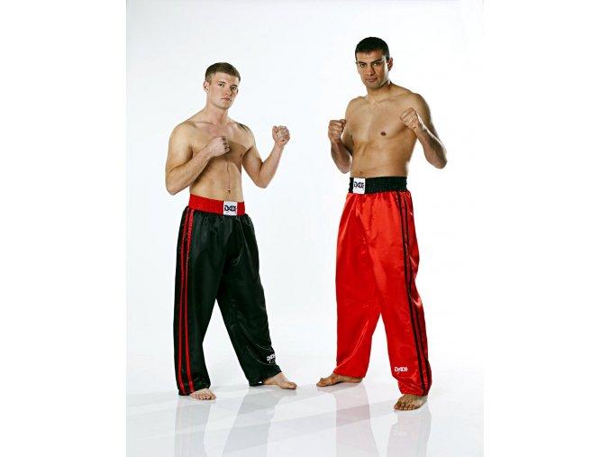 Kalhoty KICKBOXING FIGHTER PLUS černé - saténové