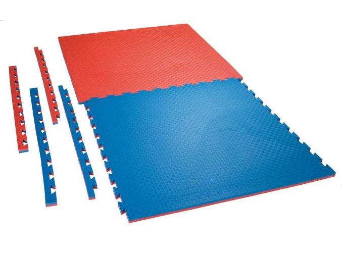 Tatami puzzle CHECKER 1m x 1m x 2cm červeno-modrá