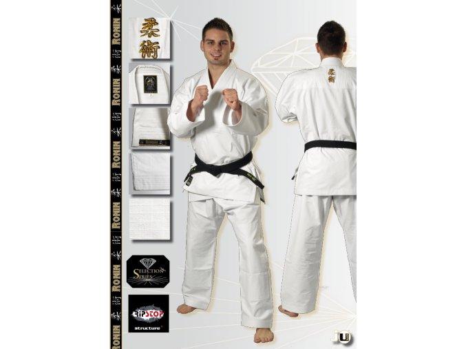 Kimono Jiu Jitsu JU-SPORTS model RONIN - bílé