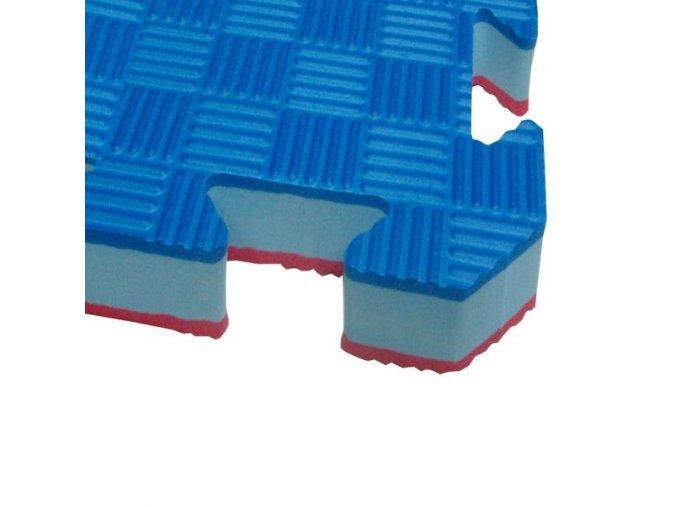 Tatami puzzle TOKAIDO 1m x 1m x 2cm červeno-modrá