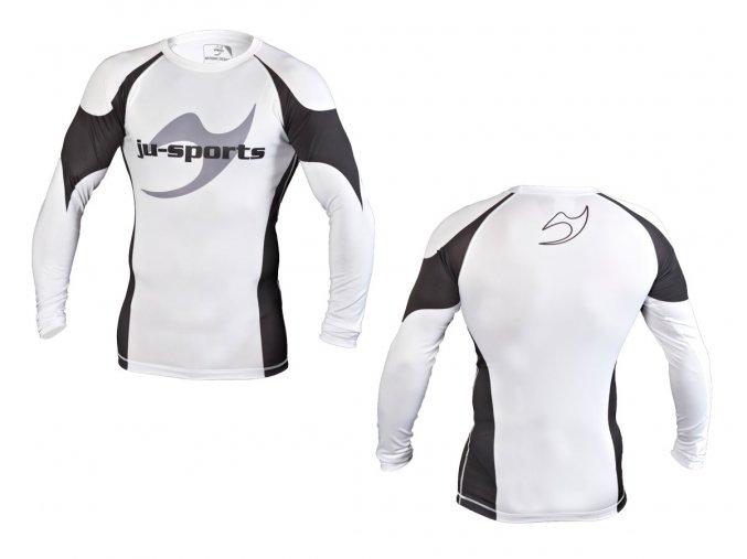 Rashguard triko dlouhý rukáv-bílé