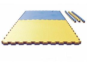 Tatami puzzle - 1m x 1m x 4cm - modro/žlutá