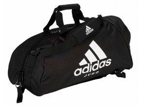ADIACC052J Size M black white adidas 2in1 Sporttasche Judo 1