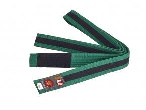 BRAZILIAN JIU JITSU dětský pás zeleno-černá