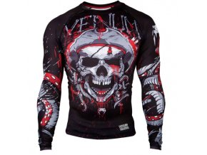 VENUM Pirate 3.0 Black/Red Rash Guard dlouhý rukáv