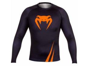 venum rash guard longsleeve challenger black orange 2025[610x480]