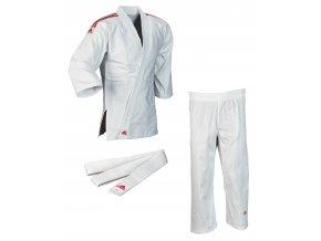 adidas JudoGi Club J350K white red 1