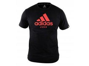 adiCTJ adidas t shirt community line judo black red 1