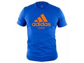 adiCTJ adidas t shirt community line judo blue orange 1