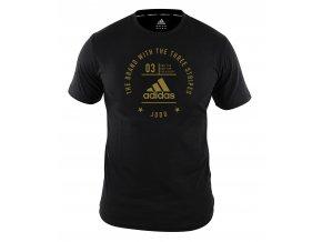 adidas stamp performance judoshirt adiCL01 Black Gold 1