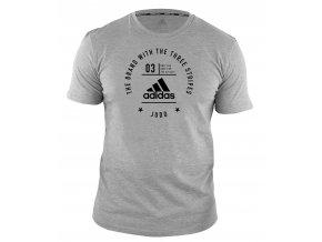adidas stamp performance judoshirt adiCL01 grey black 1