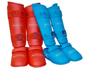 Chrániče  holení a nártů na karate Arawaza WKF approved