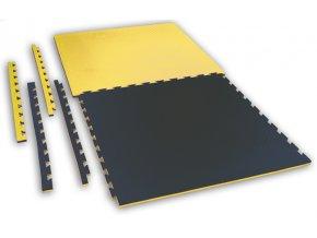 Tatami puzzle CHECKER 1m x 1m x 2cm černo-žlutá