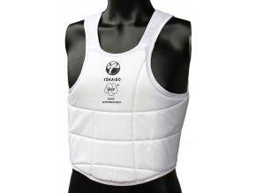 karate weste tokaido body protector wkf weiss 384x543